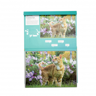 13 piece jigsaw puzzle curious cat